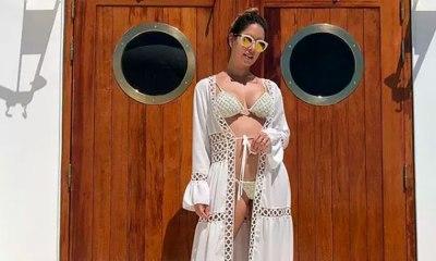 Grávida, mulher de Safadão exibe barriga em clique de biquíni