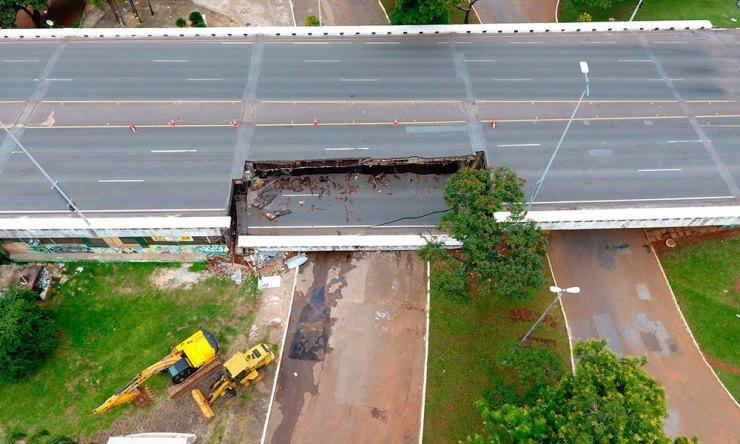 Viaduto não será demolido, e estrutura que ficou de pé vai ser reaproveitada