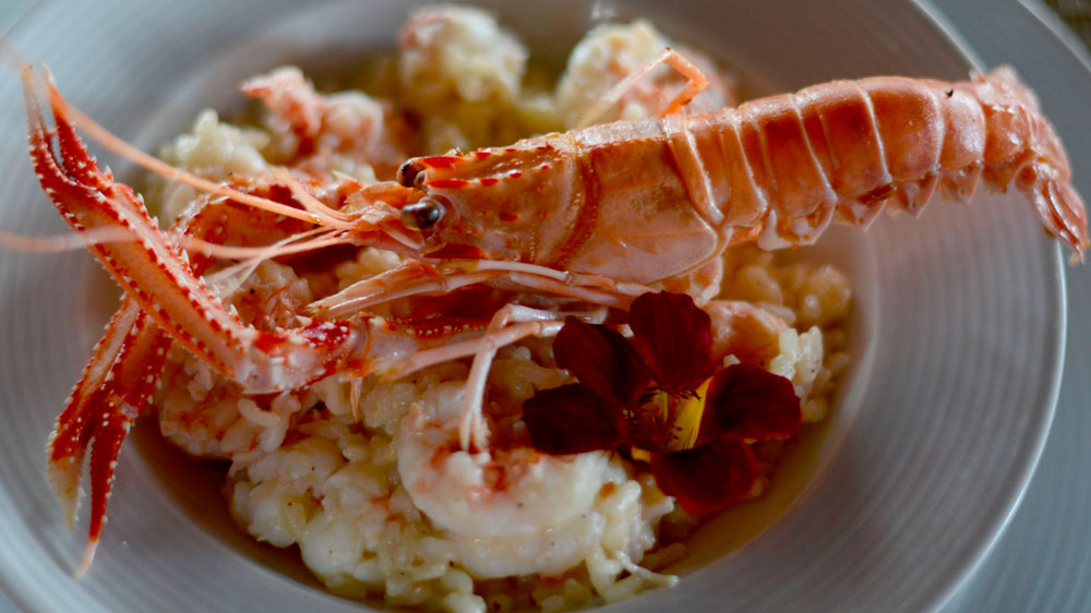 Risoto de lagostim, do L'Alcofa. Foto: André Violatti