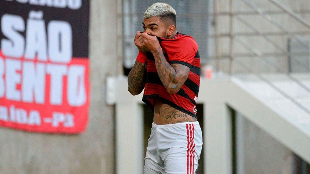 Flamengo goleia Americano e Gabigol desencanta. Foto: Alexandre Vidal / Flamengo