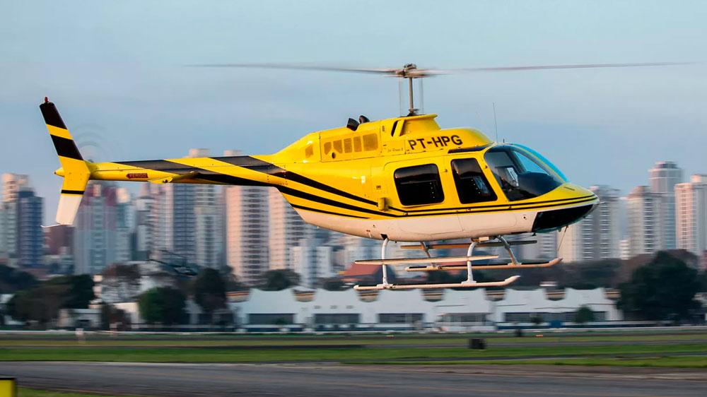 Helicóptero prefixo PT-HPG que se acidentou na Anhanguera. Foto: Matheus Herrera/Arquivo pessoal