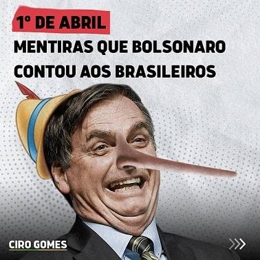 Ciro Gomes mentiras Bolsonaro