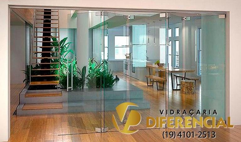 Porta de vidro Blindex Campinas