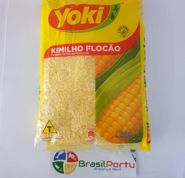 foto Farinha de Milho Flocão cuscuz Yoki 500g