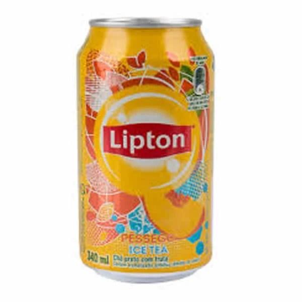 foto Ice Tea Lipton Pêssego Lata