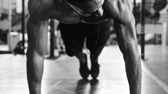 treinando flexões