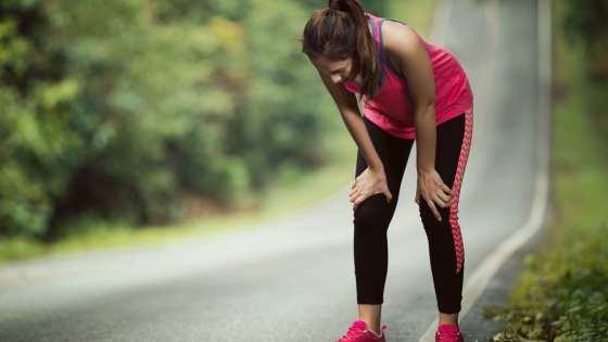 cansada após correr
