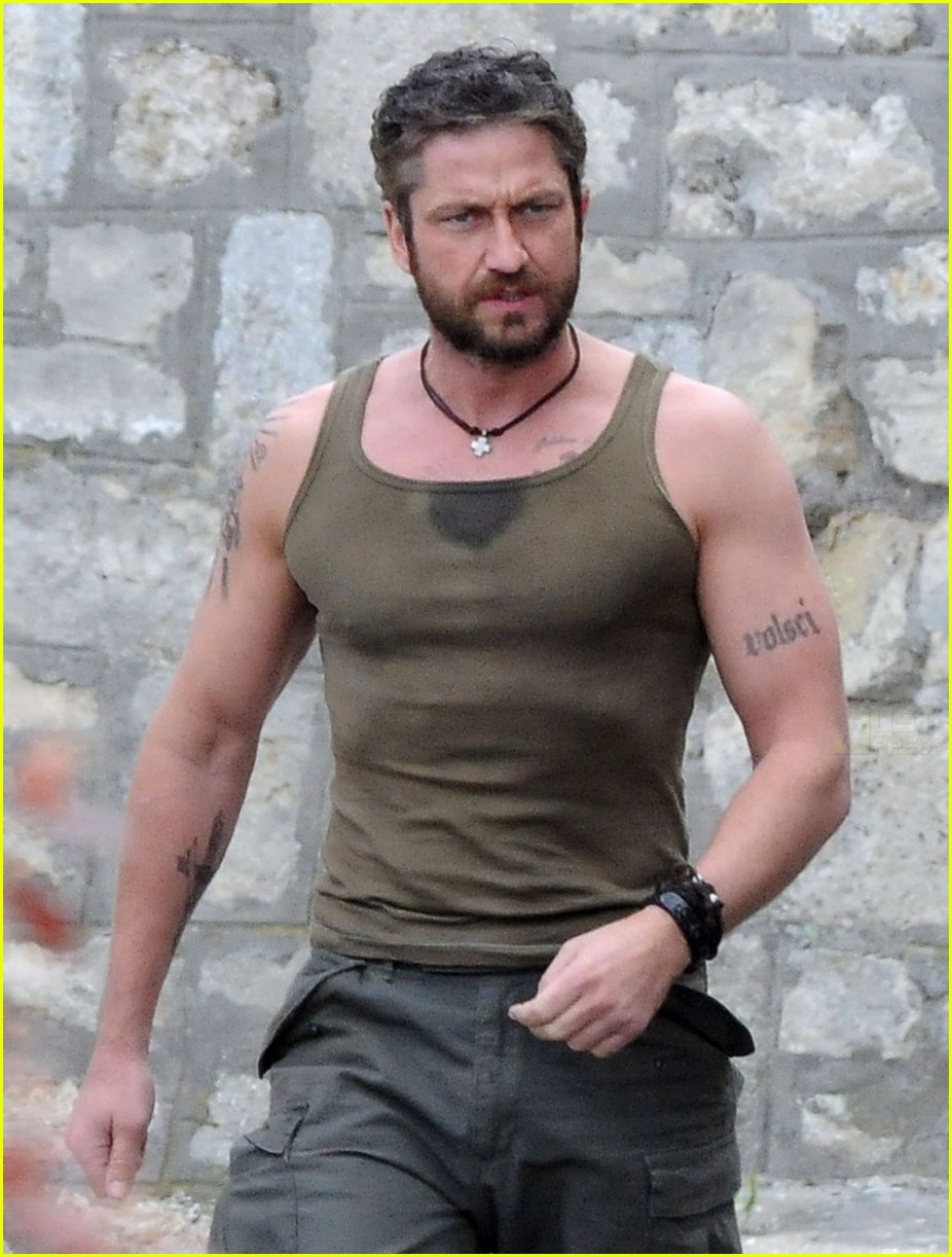 EXCLUSIVE Gerard Butler filming of Coriolanus in Belgrad USA and AUSTRALIA ONLY