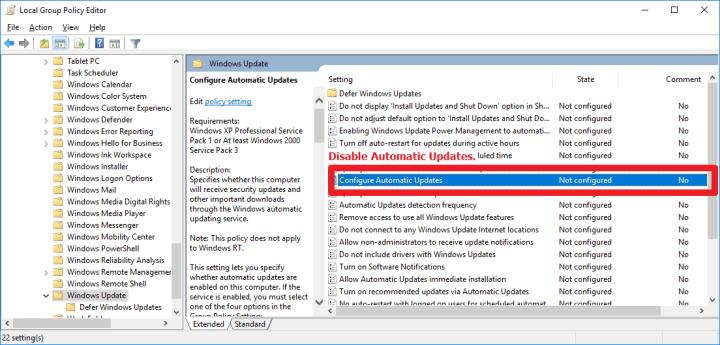 關閉的Windows 10自動更新 Disable Windows Update – 布蘭斯的部落格