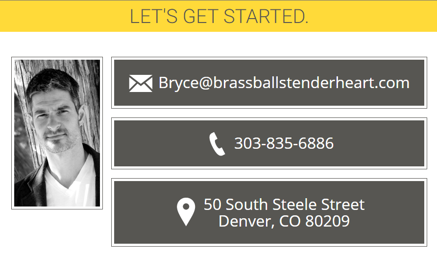 brass balls tender heart, bryce mathern, relationship coach, relationship coach in denver, denver therapist, denver counselor for men, denver counseling for men