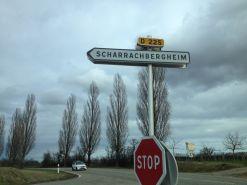 Panneau Scharrachbergheim Bas-Rhin, en route pour acheter mes houblons chez Luxflor International