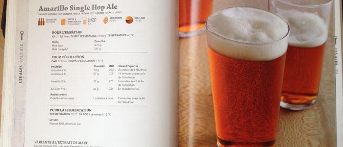 Une recette de bière dans le livre Faire sa Bière Maison