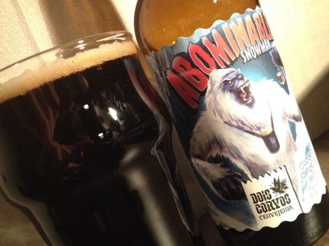 Abominable Snowman, une coconut choclate milk stout extrêmement douce - dégustation beerychristmas 17 sur 24