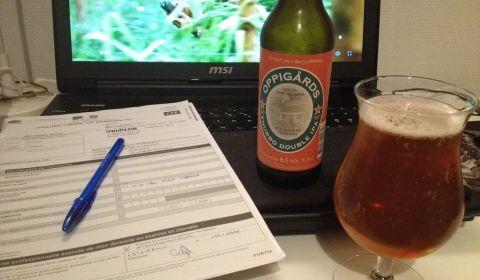 Il faut au moins une double IPA pour m'aider dans la paperasse du jour ! Une bière extrême mais particulièrement délicieuse