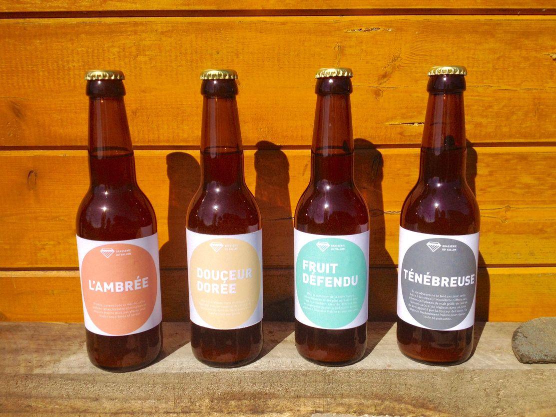 Nouveaux prototypes d'étiquettes de bières pour les bières artisanales de la brasserie du vallon (micro-brasserie d'Alsace)