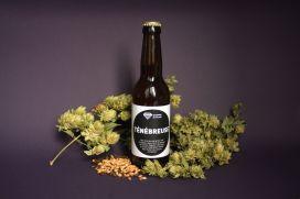 Ténébreuse stout photo étiquette bière malt et houblon - Micro-Brasserie du Vallon Alsace