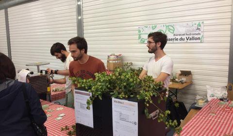 StrasBier Fest la fine équipe Alex, Pierre et moi stand Brasserie du Vallon vue du coin