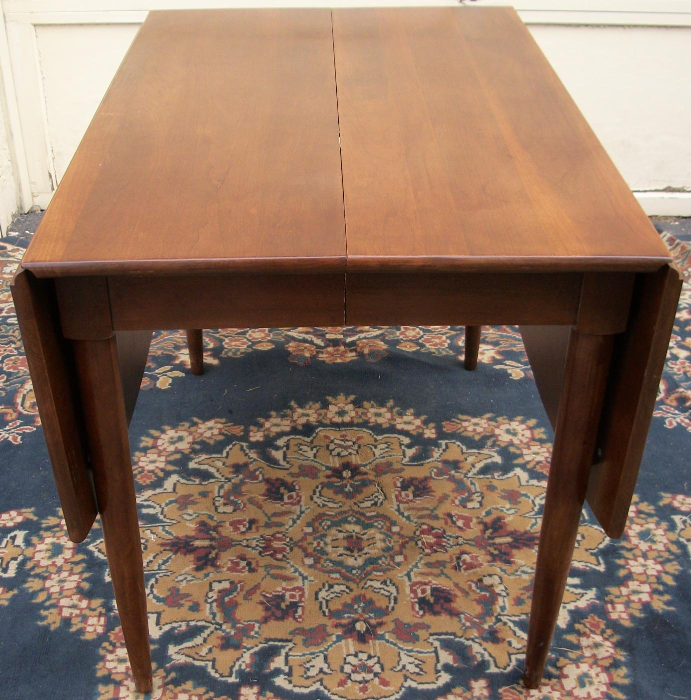 Drop Leaf Table With Chairs Willett Cherry Drop Leaf Dining Room Table W Six