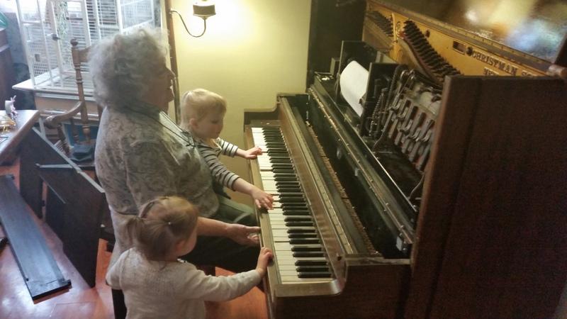 Grandma Playing Piano