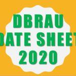 Agra university date sheet 2020