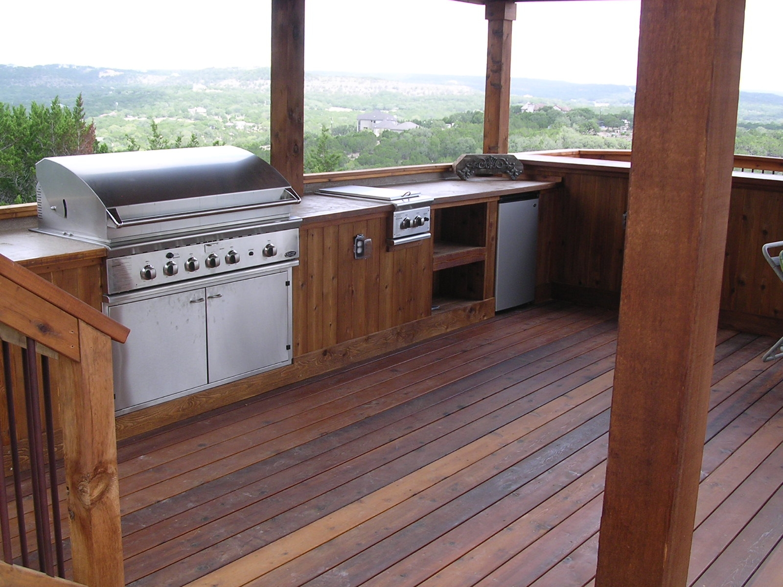 outdoor kitchen pics wood and stainless steel island kitchens braundera