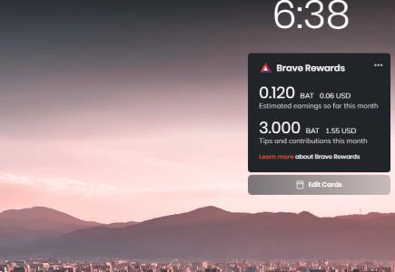 Brave reklámokért kapott BAT használata támogatásra