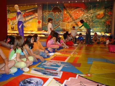 Children attending educational program at the Thessalonik Olympic Museum