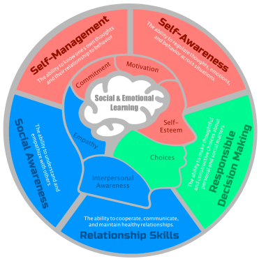 SEL Chart with a brain in the center