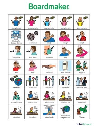 Boardmaker COVID-19 picture symbols