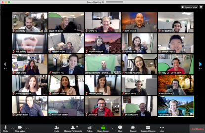 Zoom meeting with 25 attendees shown