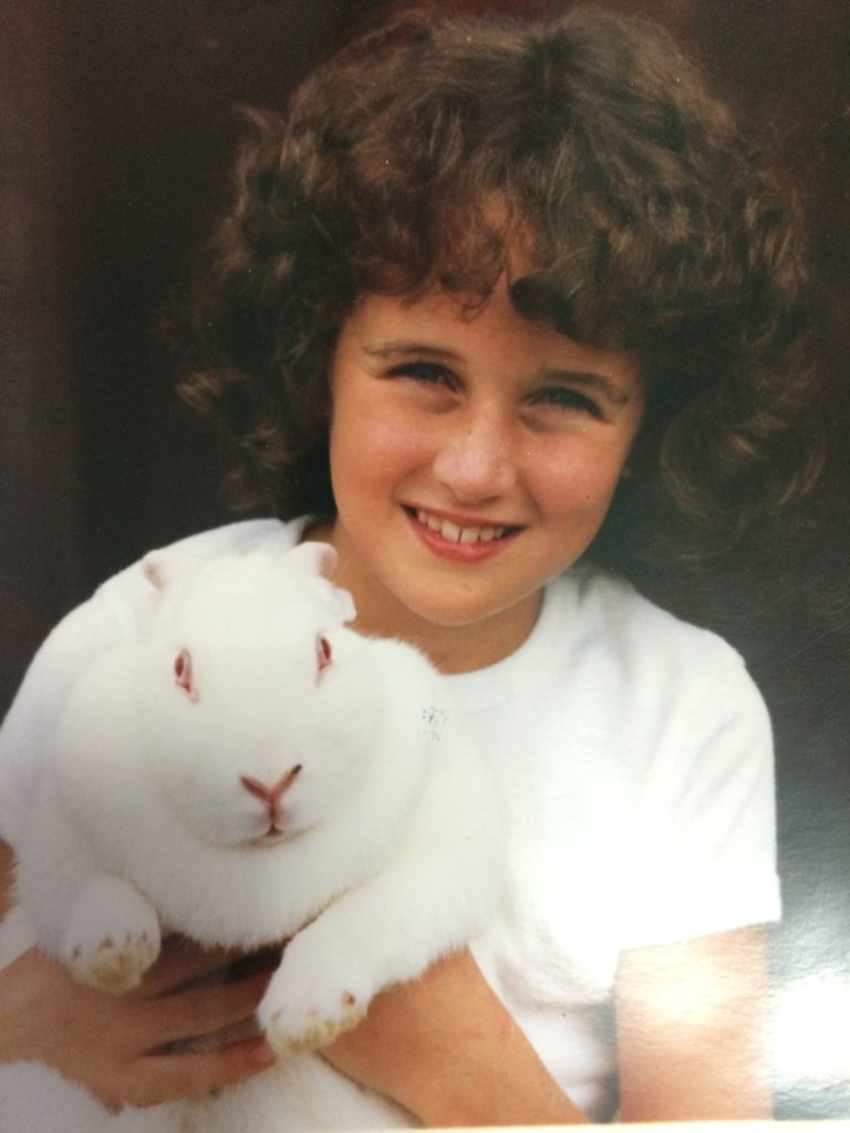 White Rabbit and Karen McMahon in the 1980s.