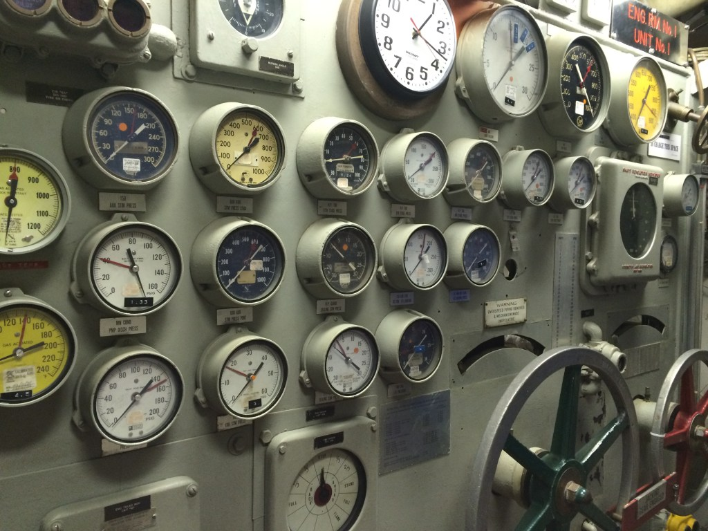 USS Wisconsin_Engine_Room_Gauges