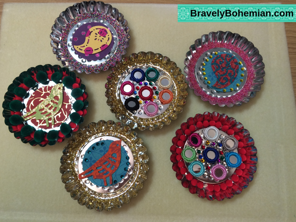 Mixed Media Tart Tin ornament designs