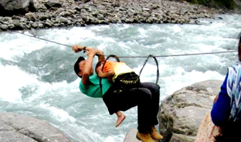 Person gone missing after falling from Tuin while crossing the Mahakali River