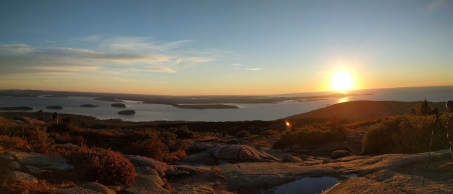 Sunrise on Cadillac Mountain--the first place the light hits in the country. Thanks for tip Karli Sam.