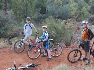 family mountain biking in Sedona Arizona