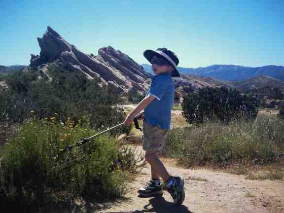 family hike vasquez rocks california