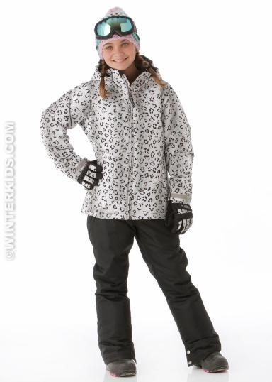 Burton Girls Hart Jacket in Winter Cat Print winterkids.com