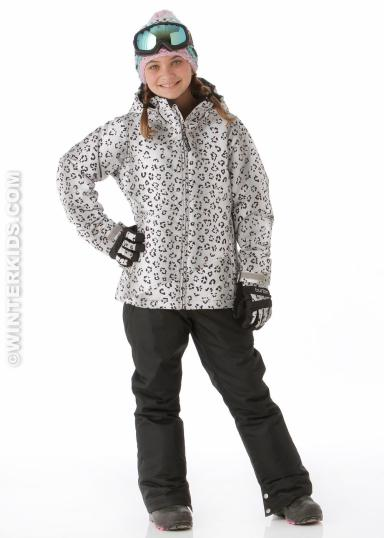 Burton Girls Hart Jacket in Winter Cat Print winterkids.com
