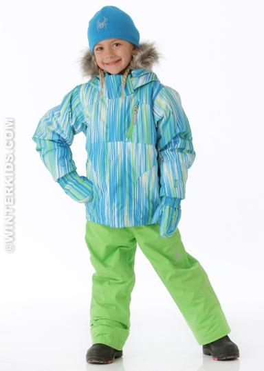 Spyder Girls Bitsy Lola Jacket in Coast Speedlines. winterkids.com