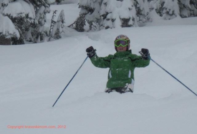 ski in deep snow park city utah