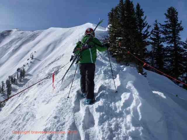 hiking highland bowl aspen highlands colorado