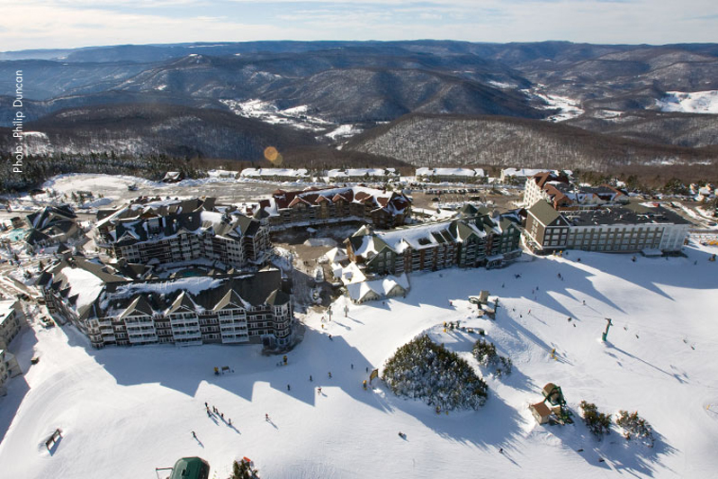 snowshoe ski village