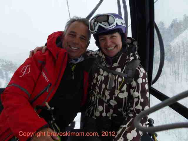 john clendenin and bsm on aspen gondola