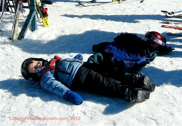 sleepy skier