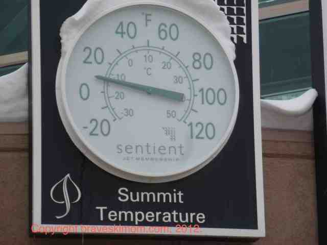 thermometer aspen mountain