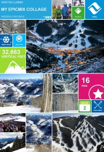 vail epic mix collage