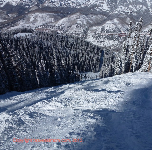 lift nine looking down into telluride