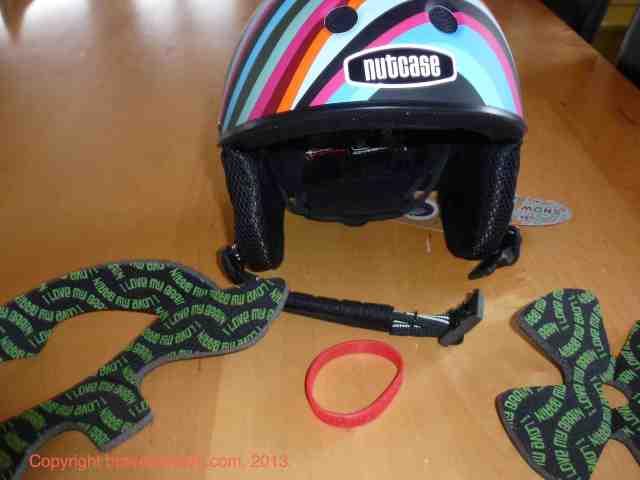 little nutty nutcase helmet in swirl with pads