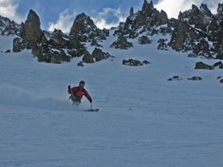 side country skiing at La Hoya.